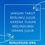 Saat teduh Renungan.org - 28 Maret 2020 - Jangan takut berlaku jujur, karena Tuhan melindungi orang jujur