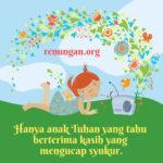 16 Juni 2020 Renungan Harian – MENGUCAP SYUKURLAH!
